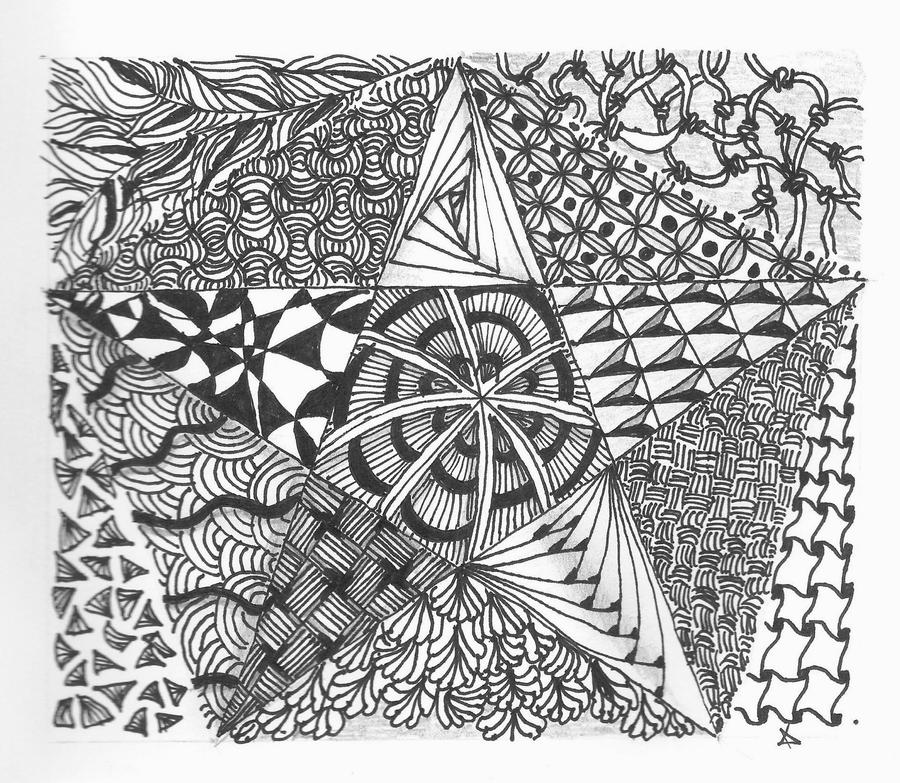 star zentangle by alien-sunset
