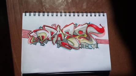 Sketch en tecnicas mixtas by draseart