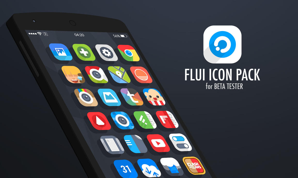 Flui IconPack Beta Tester!!! by draseart