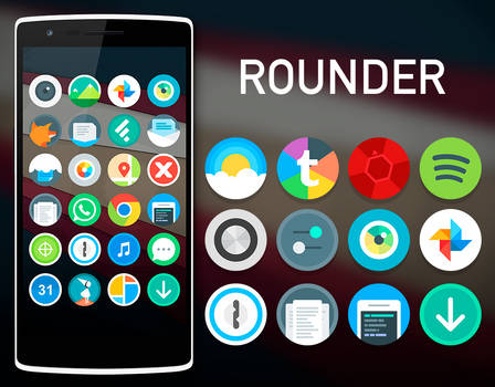 Rounder L iconpack (Google Play)