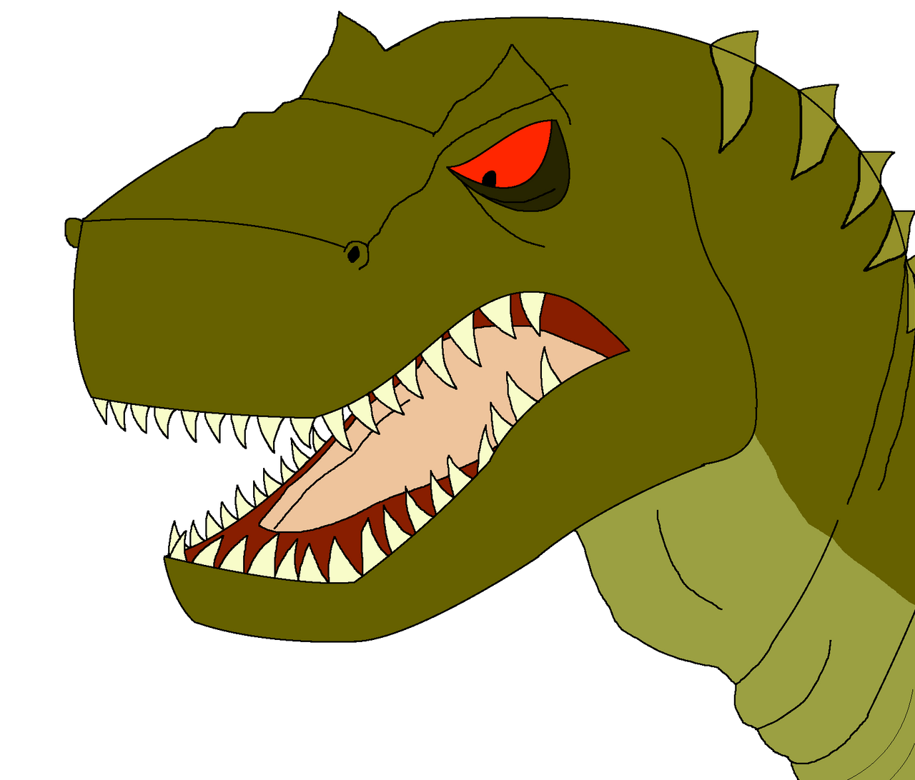 Plated Sharptooth Bust (Colored) by Asuma17 on DeviantArt