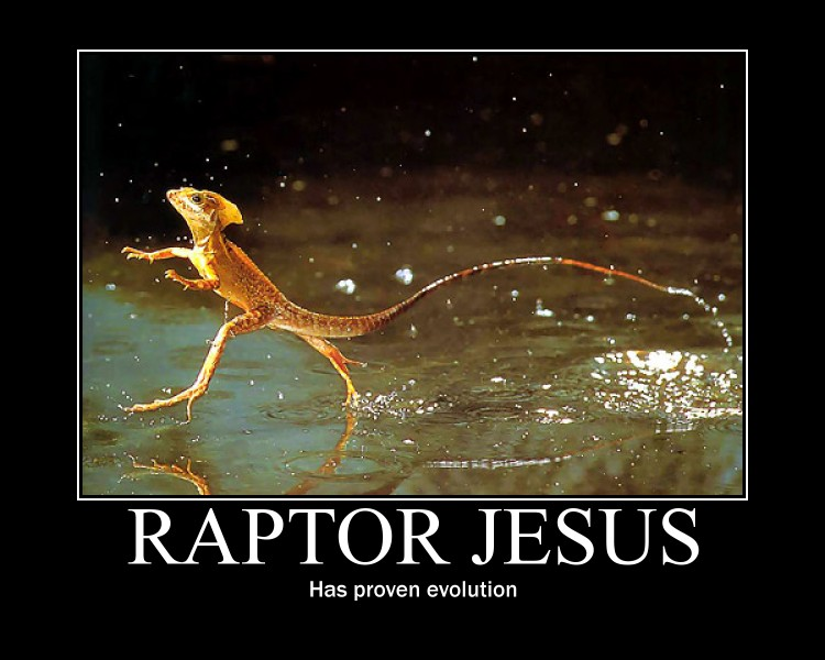 raptor jesus motivator by omegapaste on deviantart