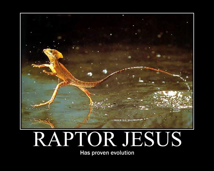raptor jesus motivator by omegapaste on deviantart