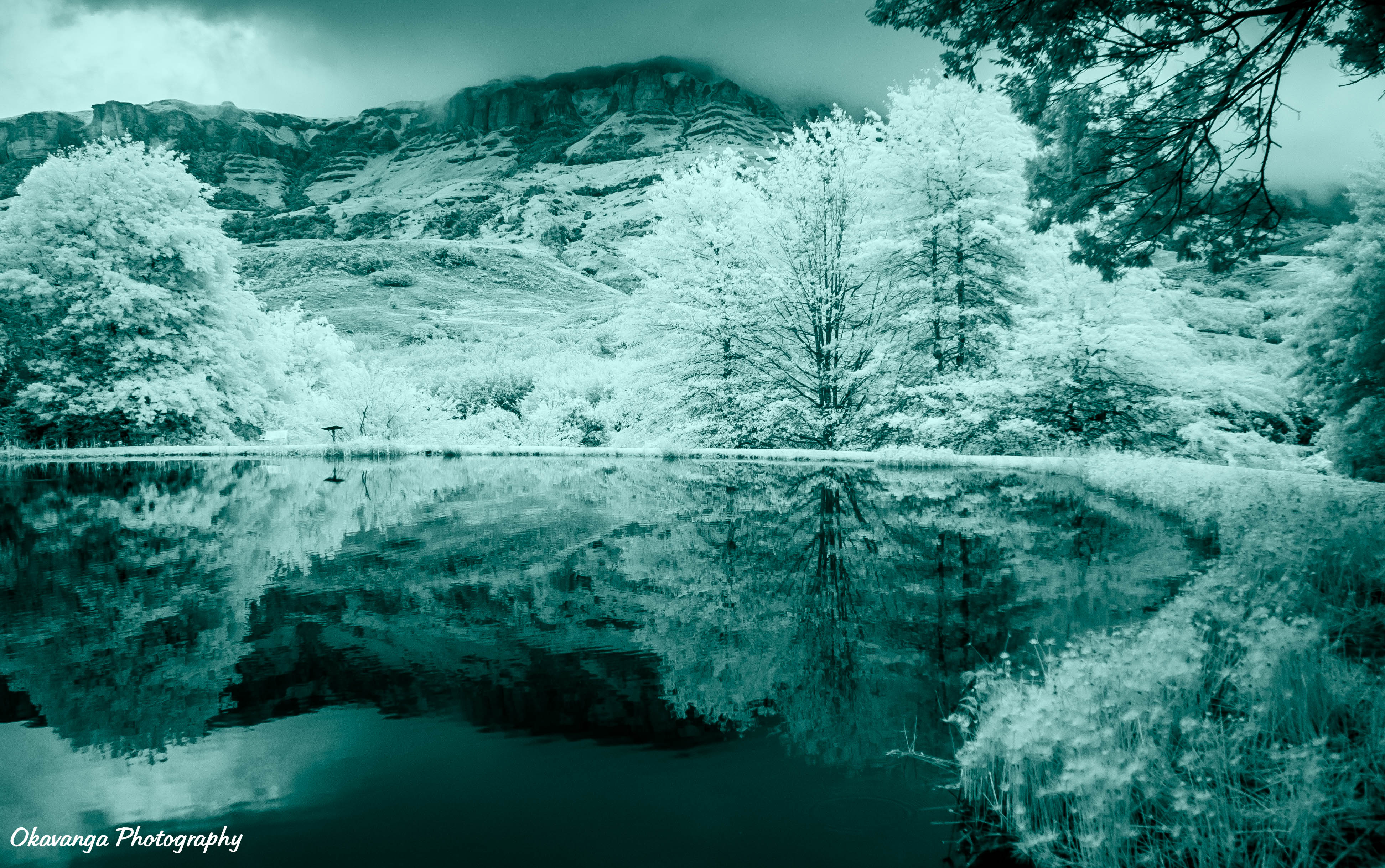 Infrared Cleopatra Lake by Okavanga