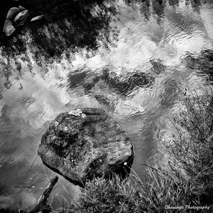 Monochrome - Water Abstraction by Okavanga