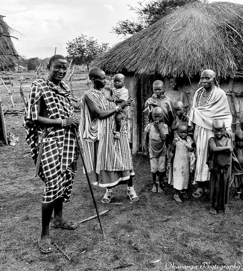 Maasai Family by Okavanga