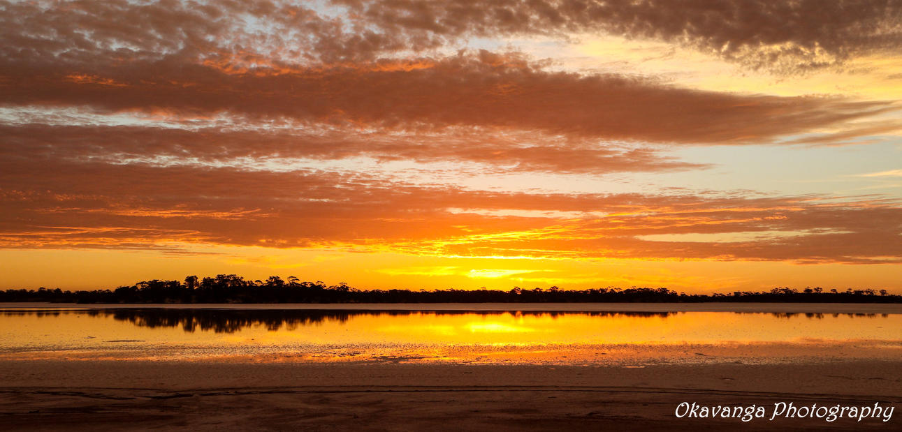 Lake Sturt Sunset by Okavanga