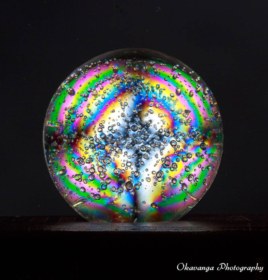 Birefringent Glass Ball by Okavanga