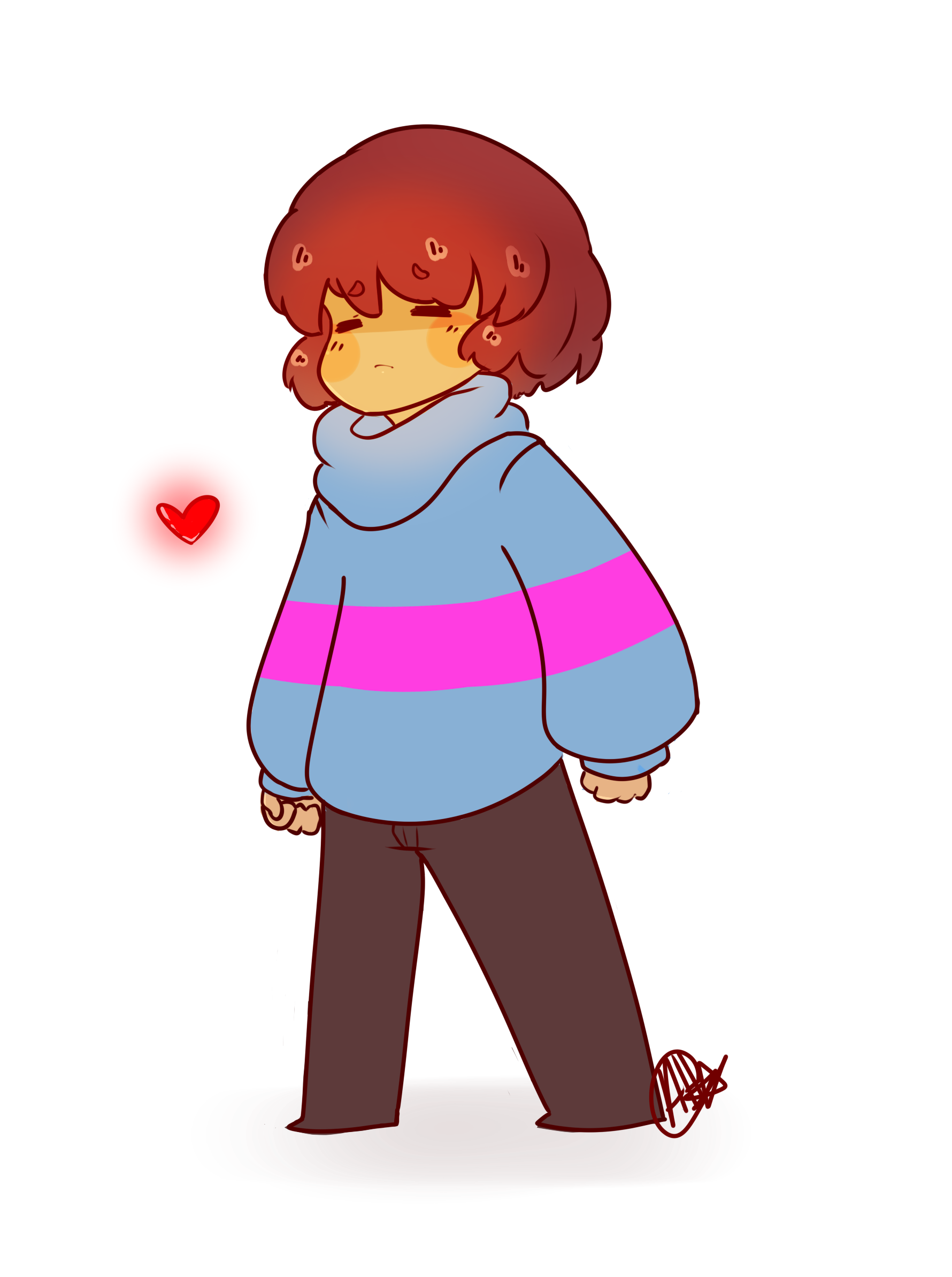 Undertale Fanart- Frisk by SilverKnight27 on DeviantArt