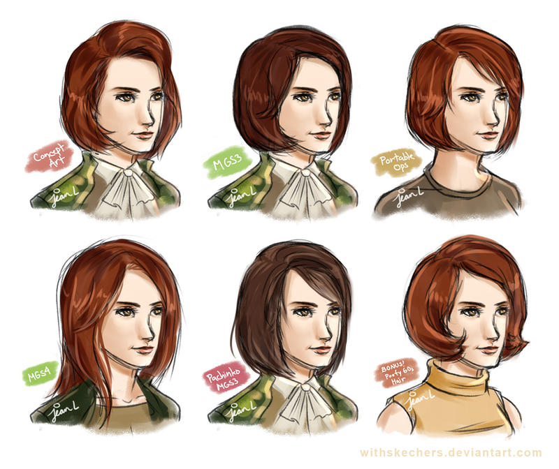 MGS3: Para-Medic hair! by WithSkechers