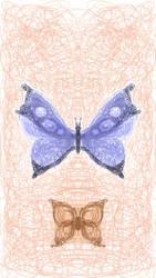Scribble Butterflies by T3F1