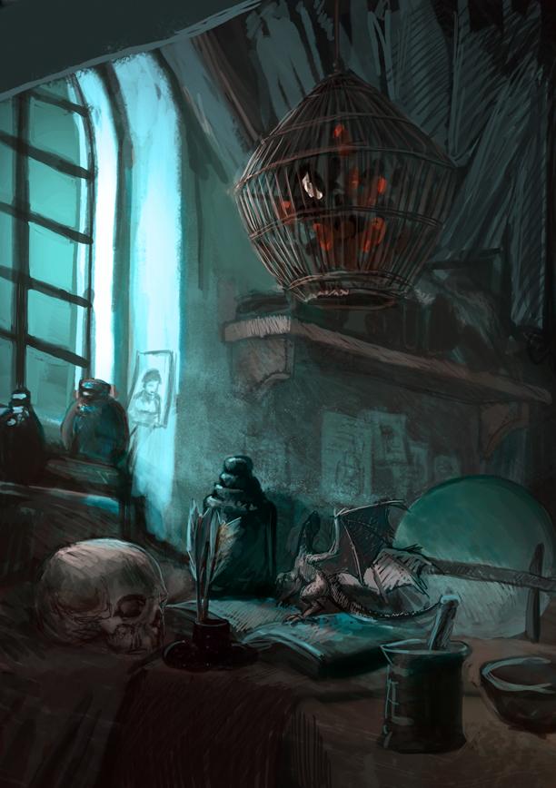 Alchemist's room by RudyCrus on DeviantArt