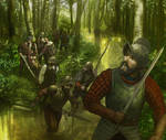 Conquistador in swamp