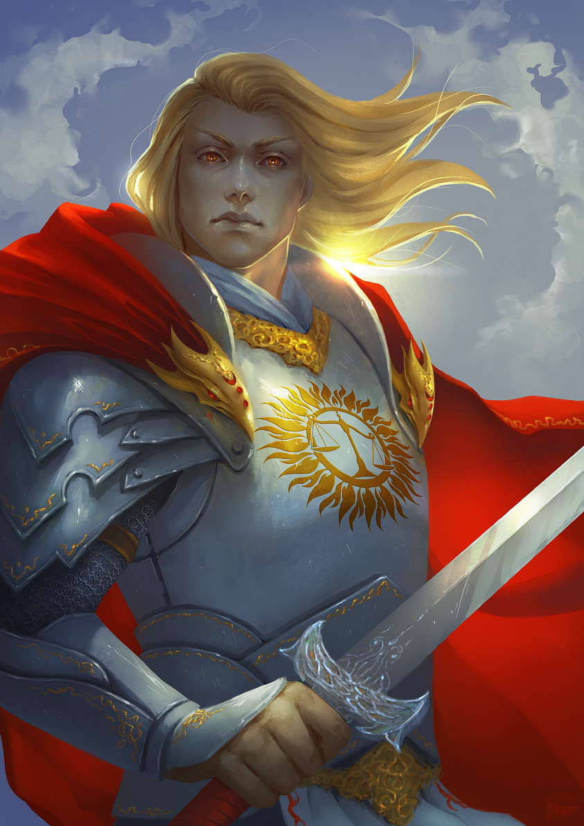 Commission: Alistar - God of Justice and Light by Le-Vent-Art