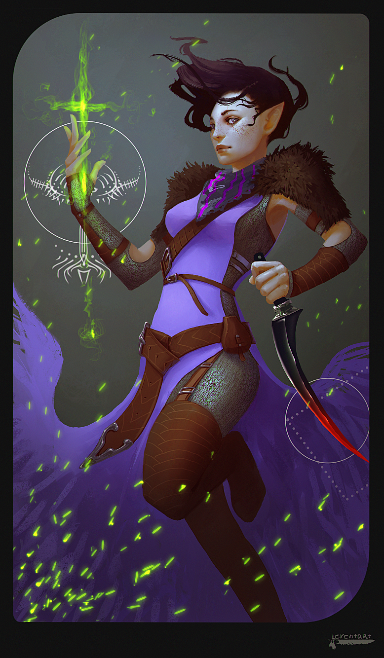 Commission: Hara card by Leventart