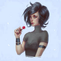 With cherry candy by Leventart