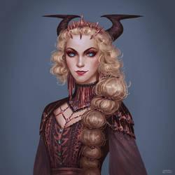 Commission: Possessed Warlock Lady