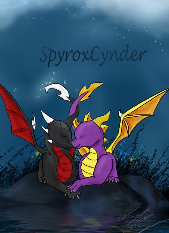 Spyro x Cynder by AutumnFur