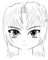Badly-Drawn Anime Girl by AutumnFur