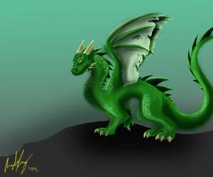 Green Dragon by AutumnFur