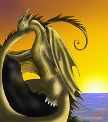Sunset Dragon by AutumnFur