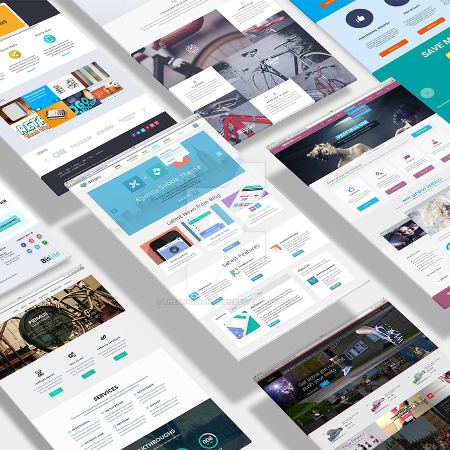 Realistic 3d website display mockup by theanthnonyrich on for 3d drawing website
