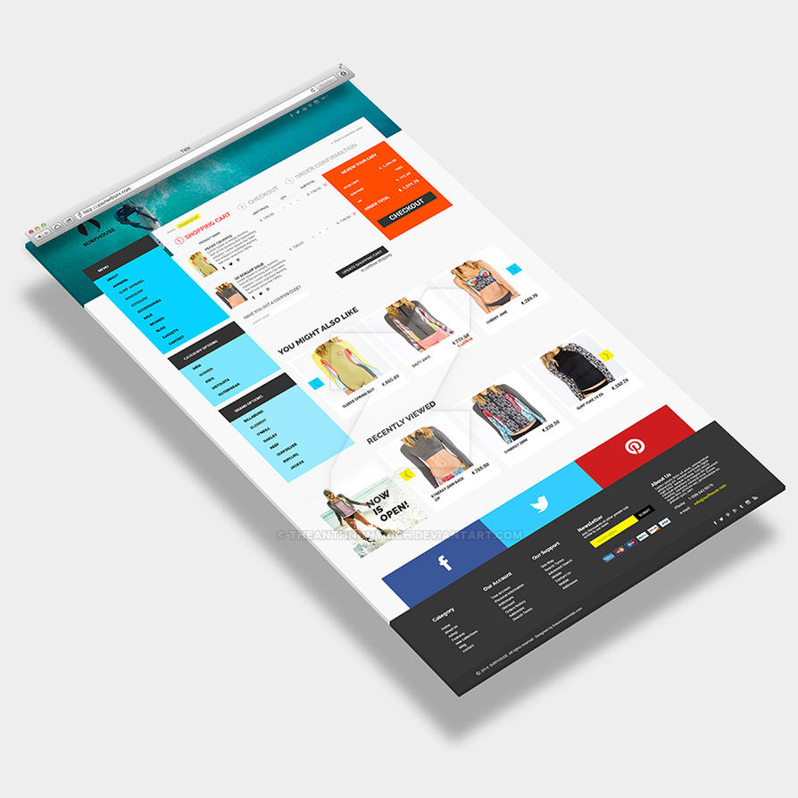 Realistic 3d Website Display Mockup By Theanthnonyrich On