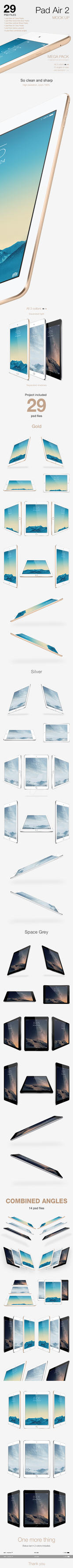 iPad Air 2 Mock-up by theanthnonyrich