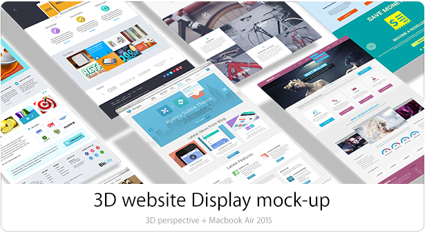 3D Website and App Mockups (Displays)