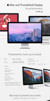 iMac and Thunderbolt Display Mock ups by theanthnonyrich