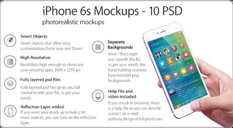 iPhone 6s Photorealistic Mockups 10 PSD