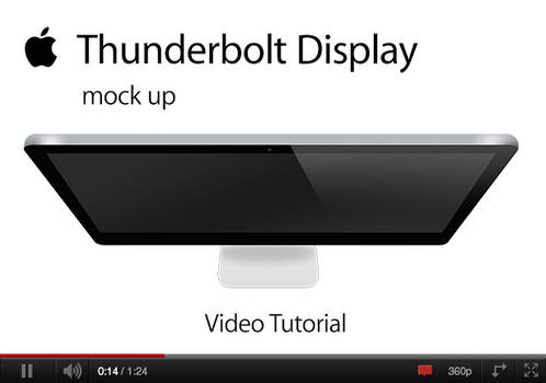 Thunderbolt Display Mock up