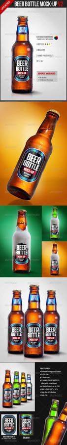 Beer Bottle Mock-Up V2 - Food and Drink Packaging