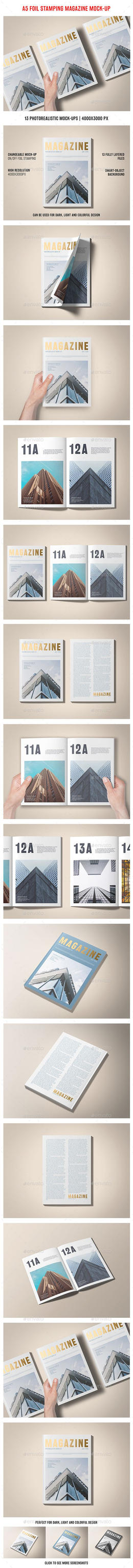 A5 Foil Stamping Magazine Mock-Up - Magazines by theanthnonyrich