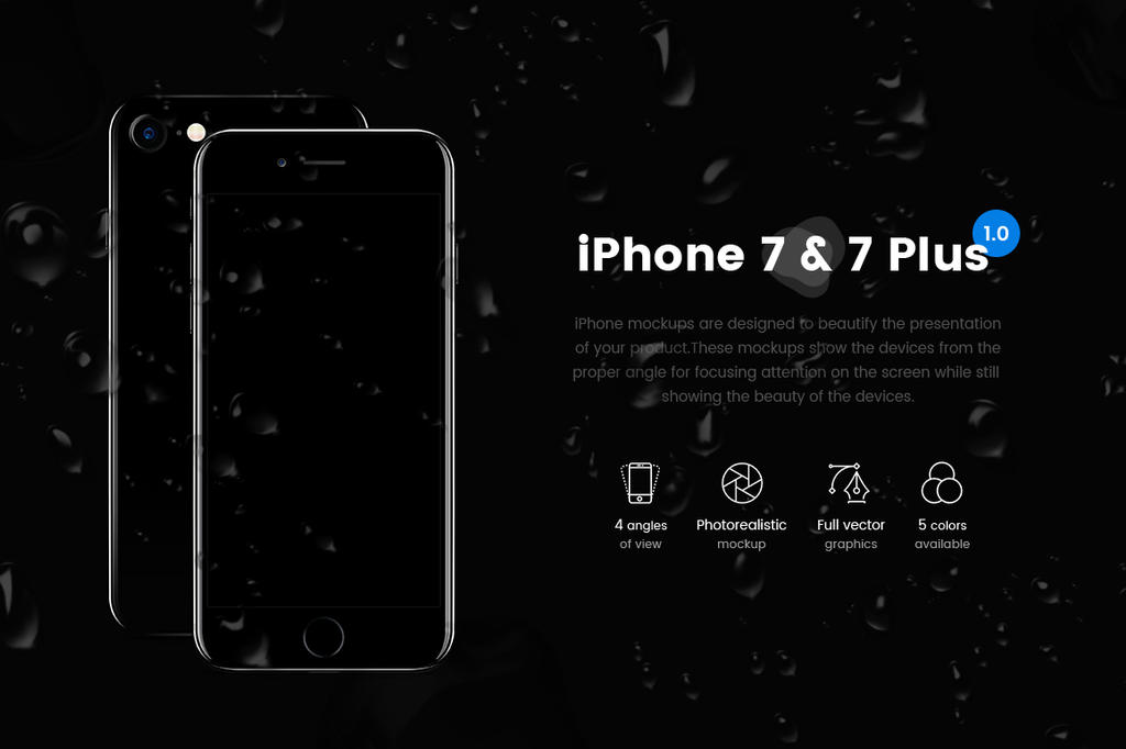 iPhone 7 and 7 Plus Vector Mockup