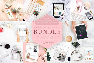 Beaty and Styled Mockup Bundle + Bonus by theanthnonyrich