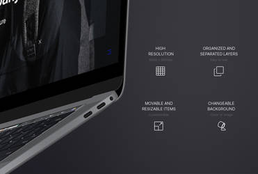 MacBook Pro 2017 Flying Mockup by theanthnonyrich