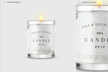 Candle Mockup by theanthnonyrich