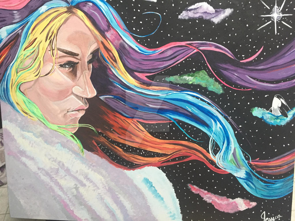 Kesha in Space by JessMoonKitty