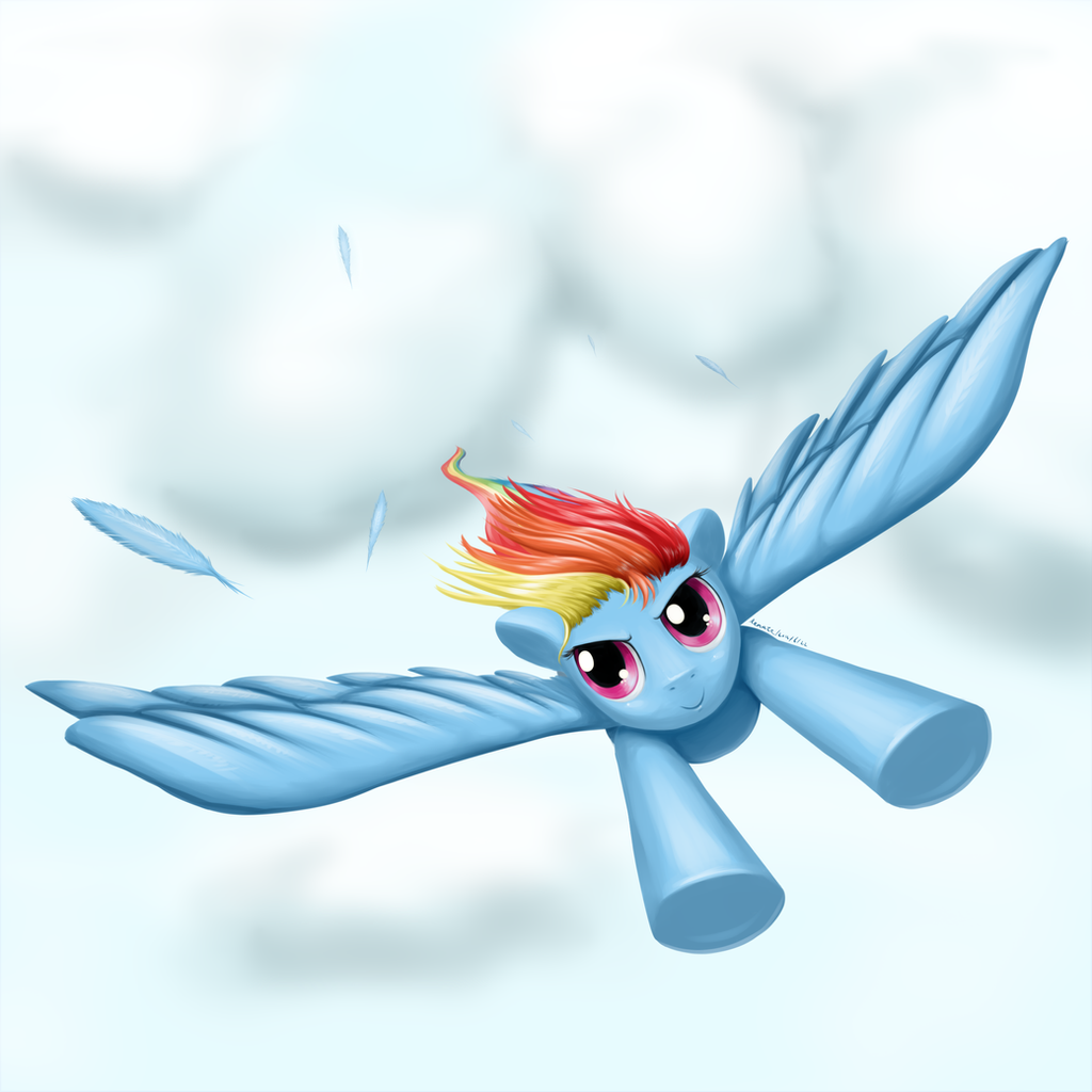 Rainbow Dash speedpaint by RenateThePony