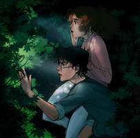 Hermione and Harry by Aloira