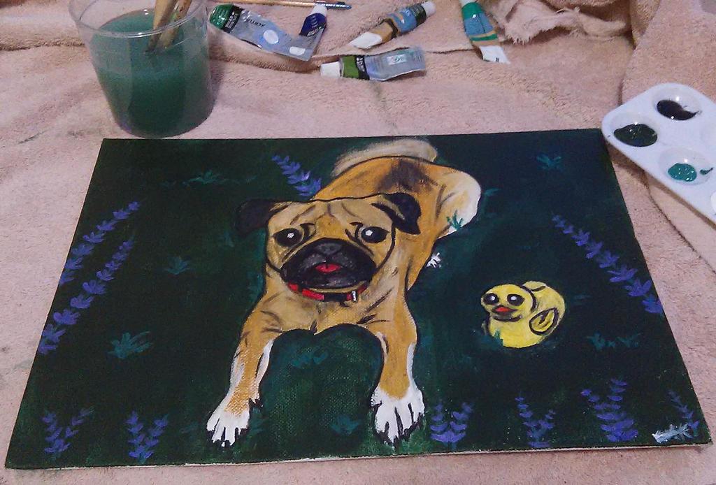 Pug Painting by KalyxArmada