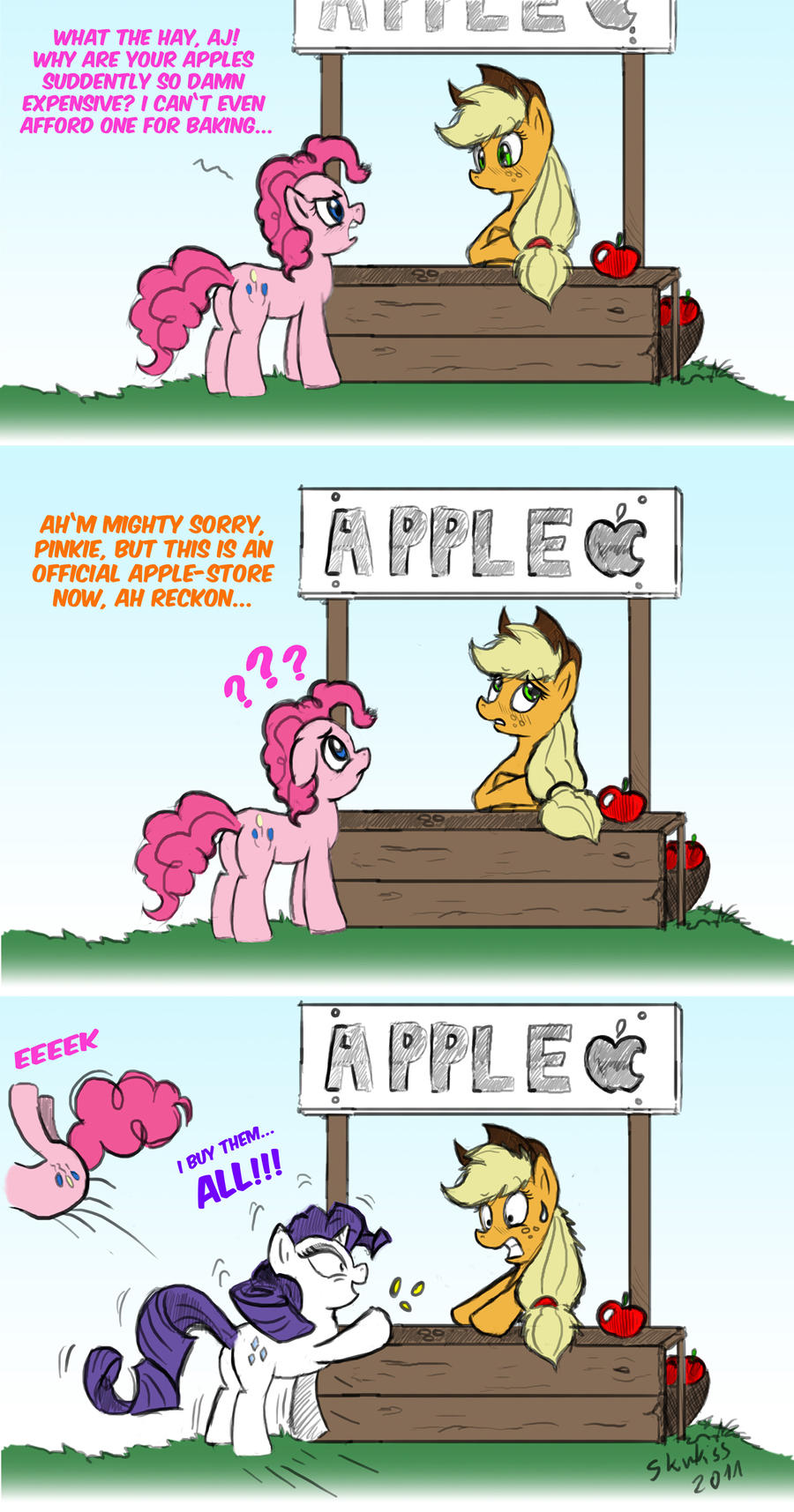 Applejacks Apple Store by Skunkiss
