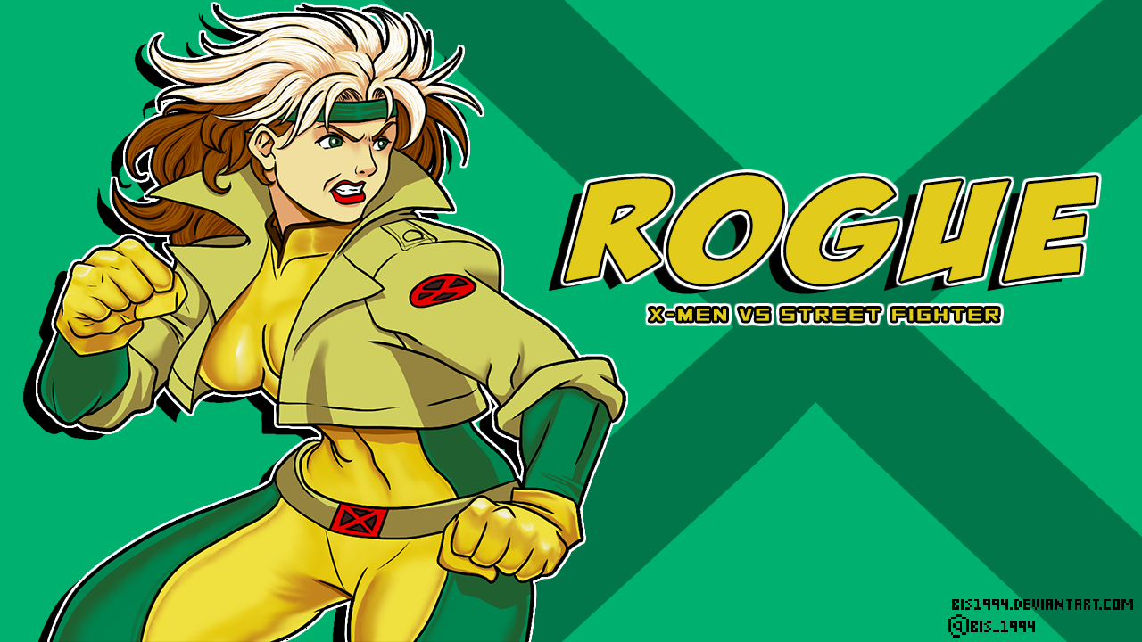 Rogue Xmen Vs Street Fighter Vs Screen Art By Bis1994 On