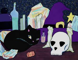 A Witch's Desk by MacKaylaDoesArt