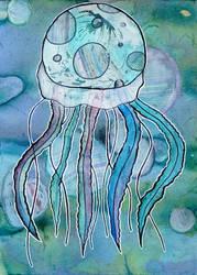 Blue Jellyfish by MacKaylaDoesArt