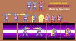 Mummies Alive! Armon Spritesheet W.I.P. by SpicyGuyOfSpice