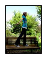 Walking on the Bench by LadyOfAvalon153