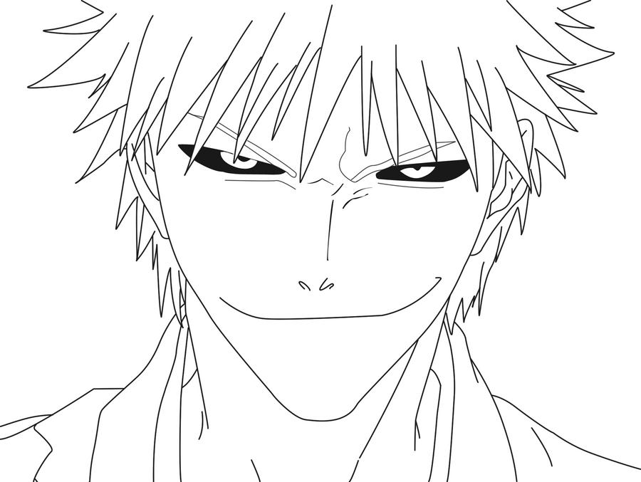 Line Art: Hollow Ichigo By Ichigo-DA On DeviantArt