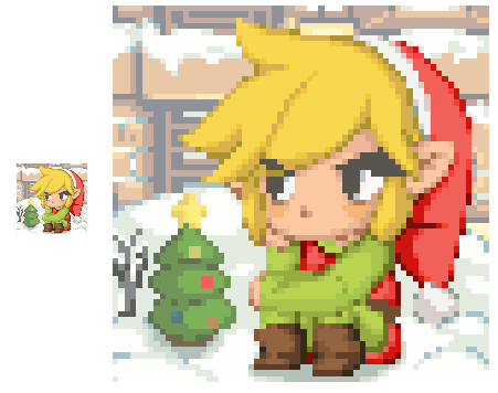 Link - Christmas Holiday Avatar by ManikkuDerp on DeviantArt